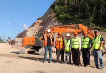Minister of Works tours George Price Highway Project